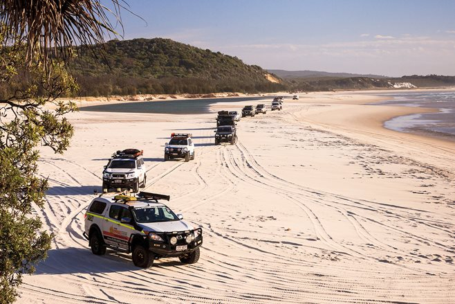 Advertiser's trip Moreton Island Queensland