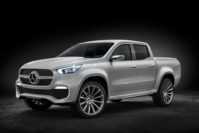 2018 mercedes benz x class ute production model 4x4 for Mercedes benz 2018 models