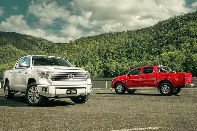 toyota tundra crewmax vs toyota hilux sr5 double cab 4x4. Black Bedroom Furniture Sets. Home Design Ideas