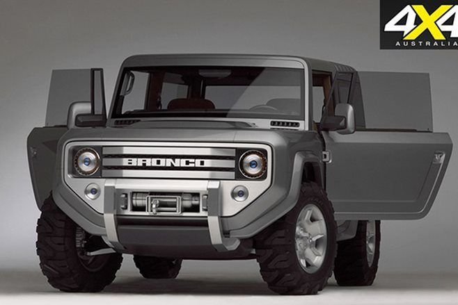 2004 Ford Bronco Concept Car Emerges In The Rock S New