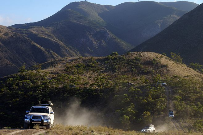 Variety 4WD Bash downhill Southern Flinders Range