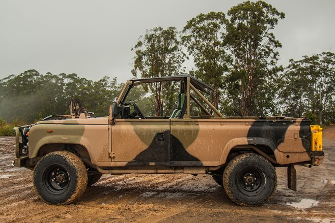 1988 Land Rover Perentie Defender 110 shed