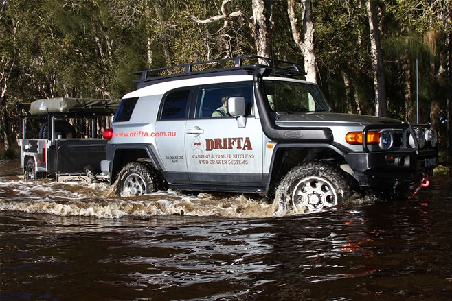 custom toyota fj cruiser and camper trailer review