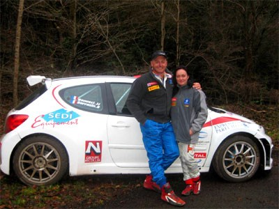 Evans tests Peugeot IRC rally car