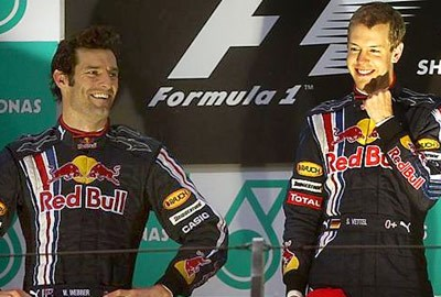 Podium for Webber in Red Bull 1 - 2