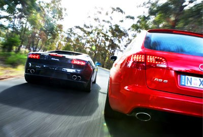 Audi RS6 vs Lambo Gallardo LP560 - 4