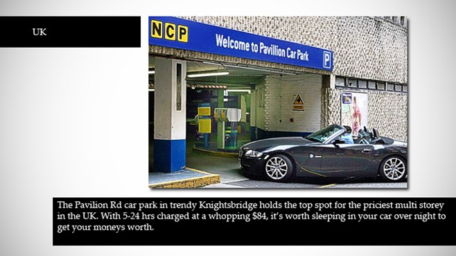 World's most expensive car parks