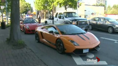 Street race ends with $2 million worth of luxury cars impounded