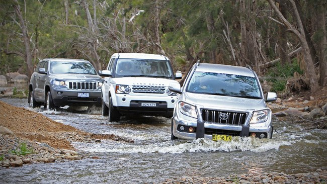 Toyota Prado vs Land Rover Discovery 4 vs Jeep Grand Cherokee review