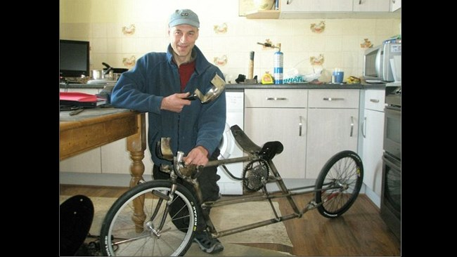Bike made from saucepan set to reach 160km/h