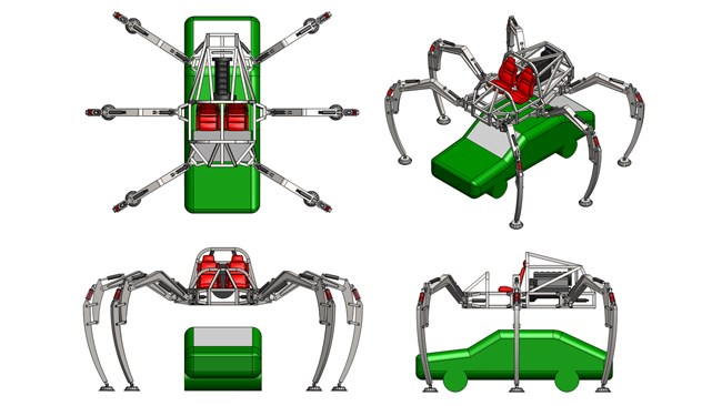 Project Hexapod: The six-legged spider-car called Stompy