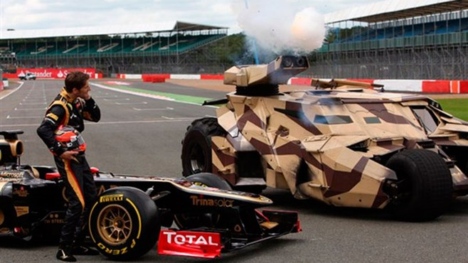 The Dark Knight Rises' Tumbler goes to Formula 1