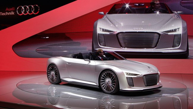 Audi showcases its future technology and innovation.