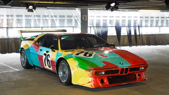 Andy Warhol took to a racing version of the BMW M1 sports car.