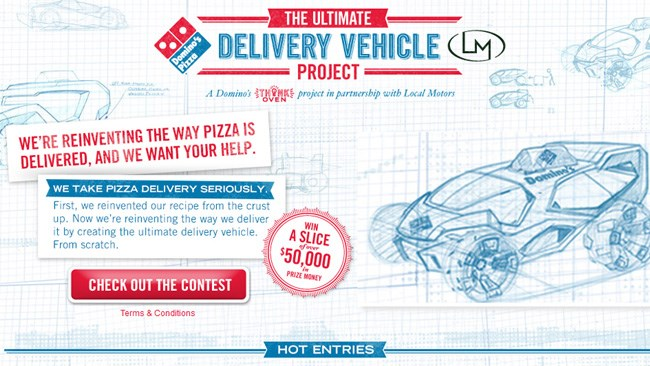 PIZZA DELIVERY DESIGN IS HOT
