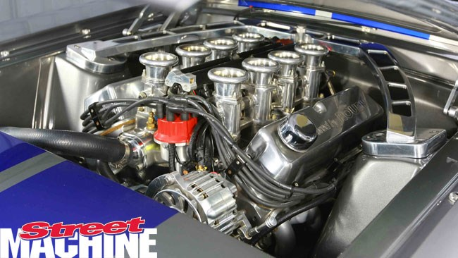 Burke's Metalwork Mustang NZ engine