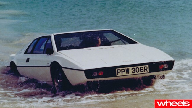 Lotus Esprit emerging from the sea in The Spy Who Loved Me
