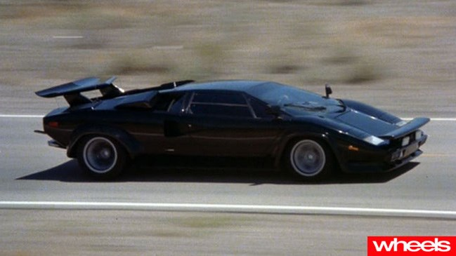 Lamborghini Countach in Cannonball Run