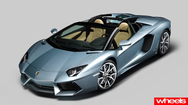 new Lamborghini Aventador LP 700-4 Roadster 2012