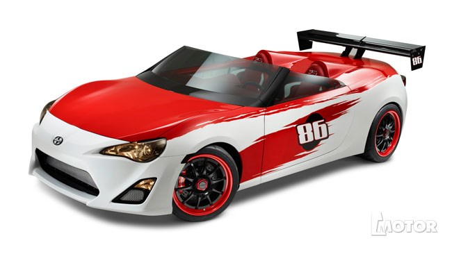 Cartel Customs' version of a convertible Toyota 86