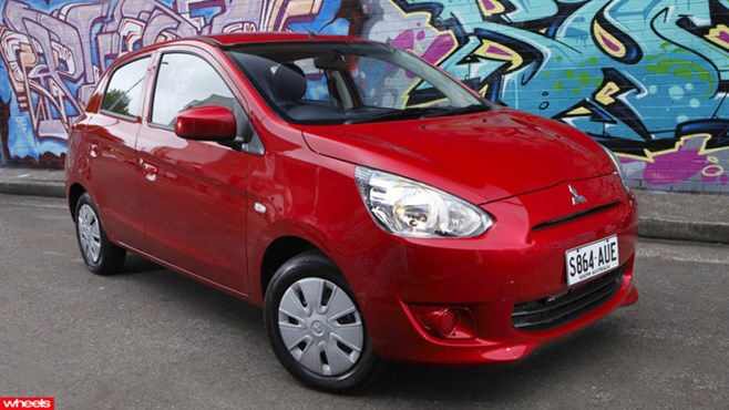 Review: New, Mitsubishi, Mirage, small, revivial, Wheels magazine, new, fast