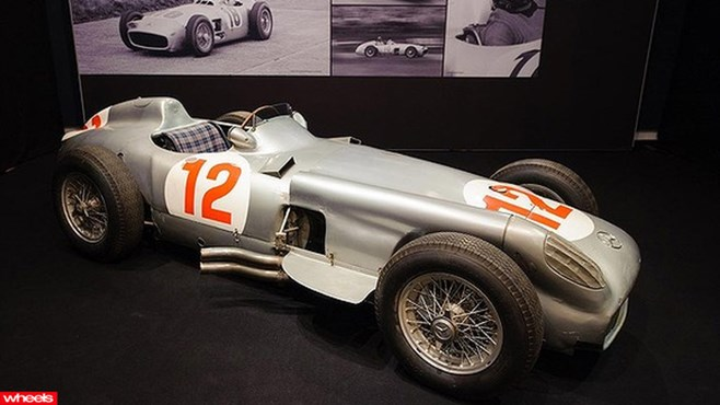 1954 Formula 1 car driven to victory by Juan Manuel Fangio, 1954 Mercedes-Benz W196 , Lost F1 car to fetch $7 million