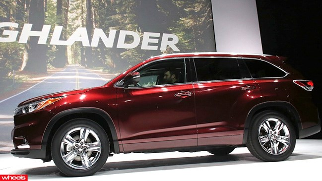 Toyota Kluger 2014, Highlander, III, New York Motor Show 2013, review