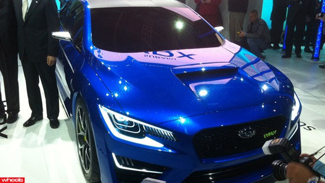 Subaru, WRX, concept, sports, hot, fast, British, ever, production, New York, Motor show