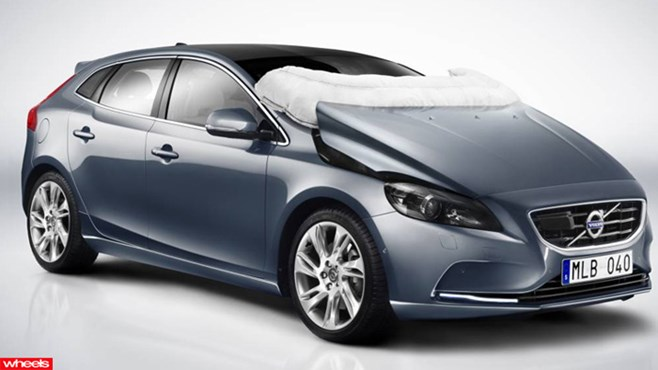 Volvo's all-new V40 2013, review, price, test drive, Pedestrian Airbag Technology