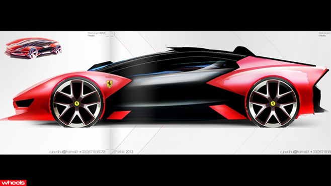 Future Ferrari design concept, getto, ghetto, 2013, 2025, student