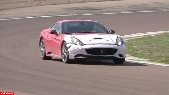 Caught! Twin-turbo, Ferrari, california, prototype, 2014, v8, pictures, video