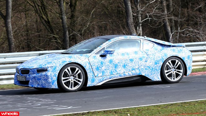 BMW i8 i3 spy shots