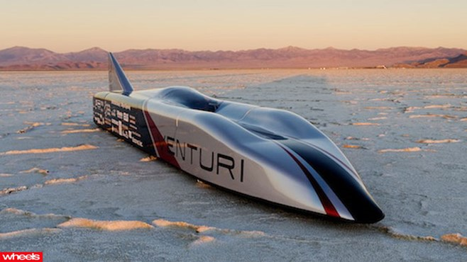 electric car, land, speed, record, 700km/h, fast, world, fastest, Venturi