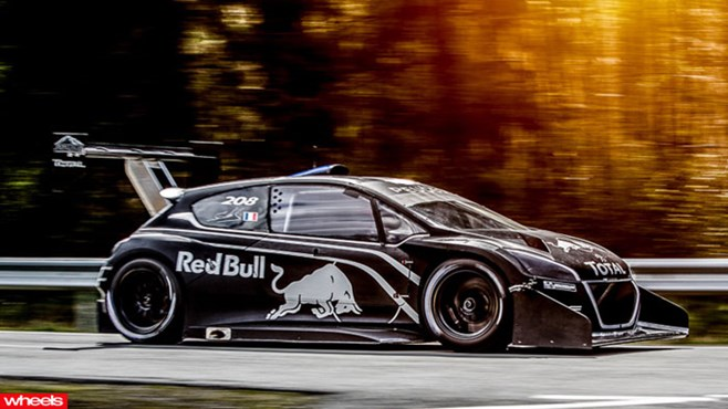 Peugeot, formula 1, beater, pikes peak, Sebastien Loeb, insane, power, speed, light, fastest, record, history