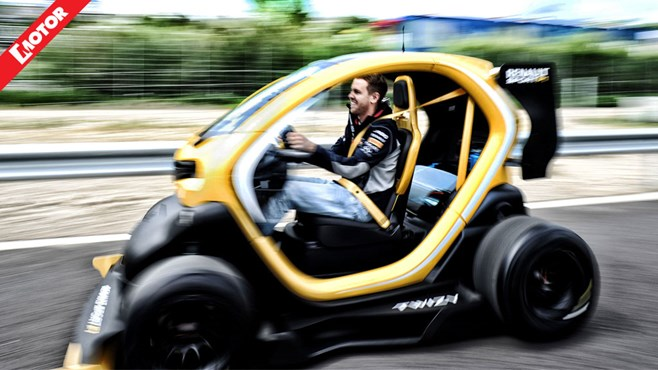 f1 champ vettel gettin 39 twizy with it motor. Black Bedroom Furniture Sets. Home Design Ideas