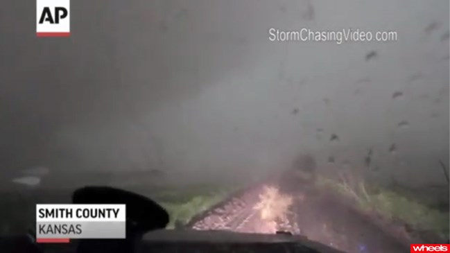 Video: Car survives Tornado strike