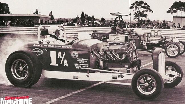 john english, hot rod, pakenham drag strip, motorcycle