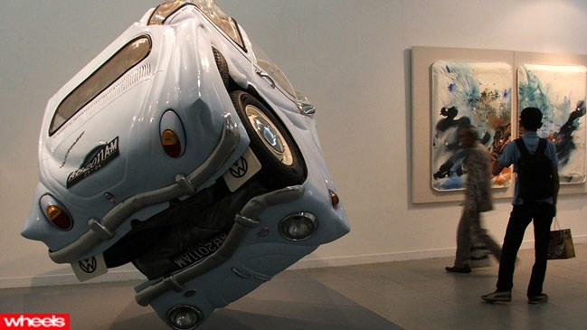 car, art, Volkswagon, Beetle, Indonesian, sphere, crushed