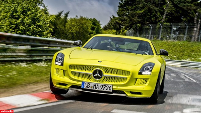 Mercedes-Benz, SLS, AMG, Electric, Drive, Nurburgring, record, Audi, R8