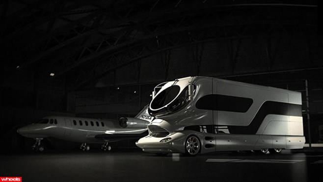 motor, home, expensive, flying, private, jet, million, German