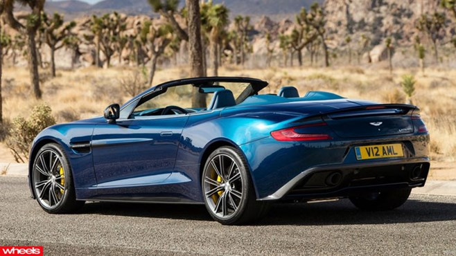 World's, hottest, model, topless, Aston, Martin, Vanquish, Volante