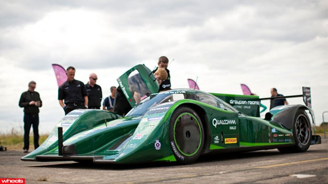 Electric, car, record, world's, fastest, Drayson, Nissan