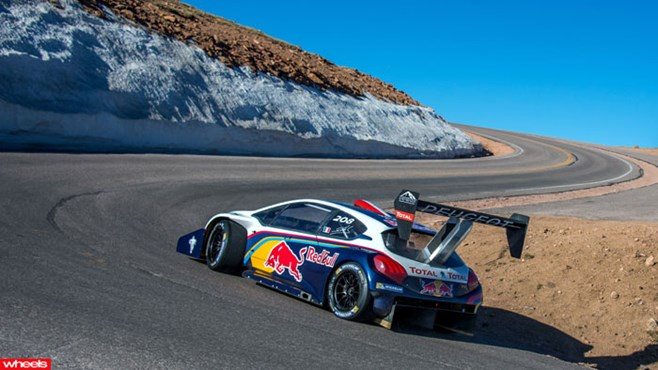 Peugeot, Pikes, Peak, Sebastien, Loeb, hill, climb, record, astonishing, new
