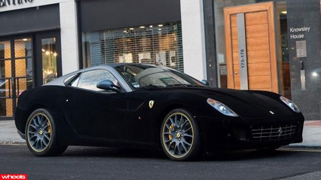 Velvet covered Ferrari 599