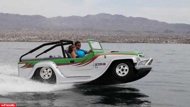 world's, fastest, amphibiious, car, WaterCar, American, Panther