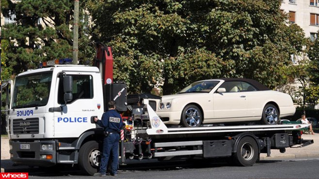 African, dictator, supercar, seize, million, french, police