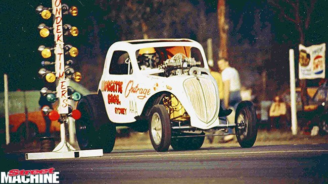The Outrage lives! ONE of the most famous cars in Australian drag racing history is set to reappear at Willowbank Raceway, August 10.
