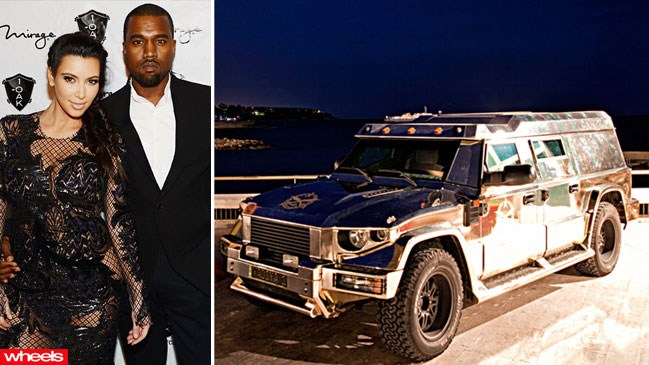 Kanye, West, North, Kim Karshasian, car, SUV, Latvia, bomb-proof, million
