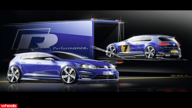 Volkswagen has just ripped the covers of its new flagship hot hatch – the Golf R.