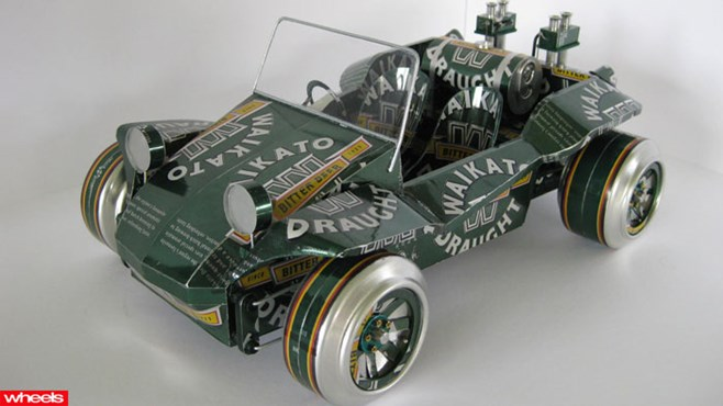 Model cars, diecast car models, Can Cars, Sandy Sanderson, Sandy's Can Cars, Wheels, Wheels magazine
